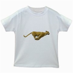 Leopard 3 Kids' T Shirt (white)