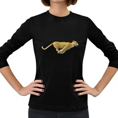 Leopard 3 Womens' Long Sleeve T Shirt (dark Colored) by gatterwe