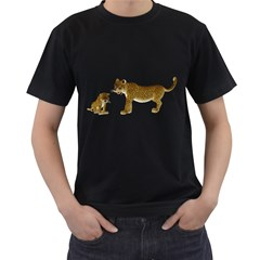 Leopard 4 Mens' Two Sided T Shirt (black) by gatterwe