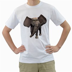 Elephant 1 Mens  T Shirt (white) by gatterwe
