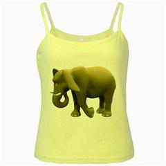 Elephant 2 Yellow Spaghetti Tank