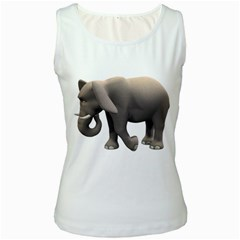 Elephant 2 Womens  Tank Top (white)
