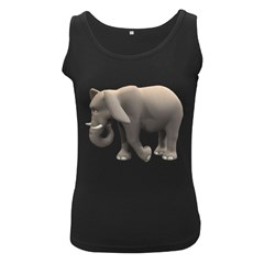 Elephant 2 Womens  Tank Top (black) by gatterwe