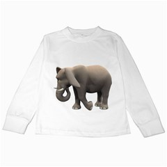 Elephant 2 Kids Long Sleeve T Shirt by gatterwe