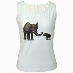 Elephant 3 Womens  Tank Top (white) by gatterwe
