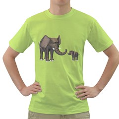 Elephant 3 Mens  T Shirt (green) by gatterwe