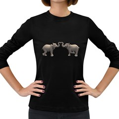 Elephant 4 Womens' Long Sleeve T Shirt (dark Colored) by gatterwe