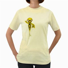 Fish 1  Womens  T Shirt (yellow) by gatterwe