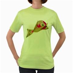 Fish 4 Womens  T Shirt (green) by gatterwe