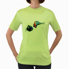 Fish 5 Womens  T Shirt (green) by gatterwe