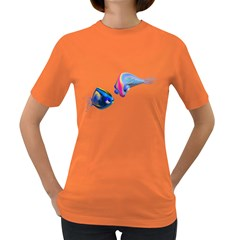 Fish 5 Womens' T Shirt (colored) by gatterwe