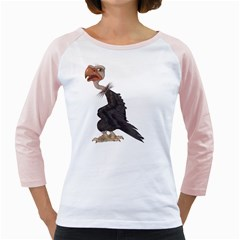 Vulture 1 Womens  Long Sleeve Raglan T Shirt (white) by gatterwe