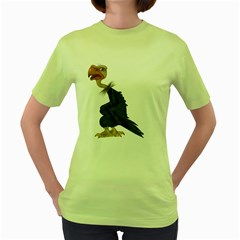 Vulture 1 Womens  T Shirt (green) by gatterwe