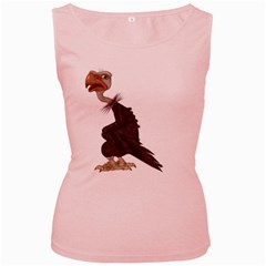 Vulture 1 Womens  Tank Top (pink) by gatterwe