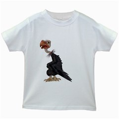 Vulture 1 Kids' T Shirt (white) by gatterwe