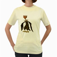 Vulture 2  Womens  T Shirt (yellow) by gatterwe