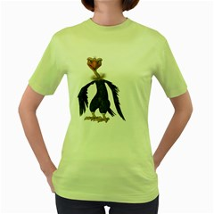 Vulture 2 Womens  T Shirt (green) by gatterwe