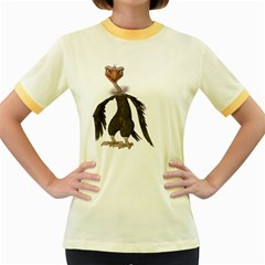 Vulture 2 Womens  Ringer T Shirt (colored)