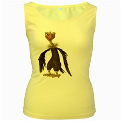 Vulture 2 Womens  Tank Top (yellow) by gatterwe