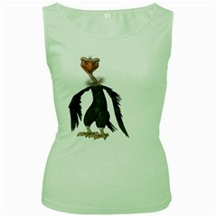 Vulture 2 Womens  Tank Top (green) by gatterwe