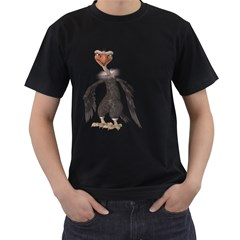 Vulture 2 Mens' Two Sided T Shirt (black) by gatterwe