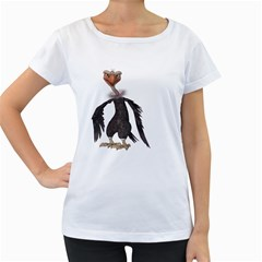 Vulture 2 Womens' Maternity T Shirt (white) by gatterwe