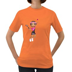 Tennis Girl 2 Womens' T Shirt (colored) by gatterwe