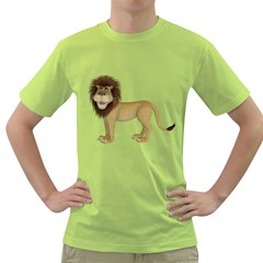 Lion 1 Mens  T Shirt (green) by gatterwe