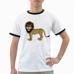 Lion 1 Mens' Ringer T Shirt by gatterwe