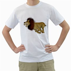 Lion 2 Mens  T Shirt (white) by gatterwe