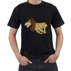 Lion 2 Mens' Two Sided T Shirt (black)