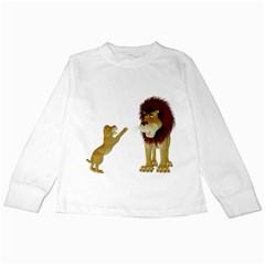Lion 3 Kids Long Sleeve T Shirt