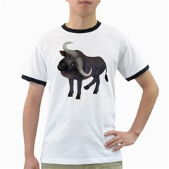 Buffalo 1 Mens' Ringer T Shirt by gatterwe