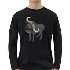 Buffalo 1 Mens' Long Sleeve T Shirt (dark Colored) by gatterwe