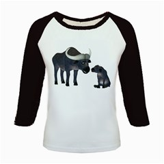 Buffalo 2 Women s Long Cap Sleeve T Shirt by gatterwe