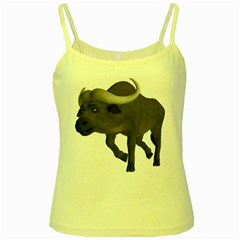 Buffalo 3 Yellow Spaghetti Tank by gatterwe