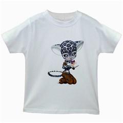 Native Snow Leopard 1 Kids' T Shirt (white) by gatterwe