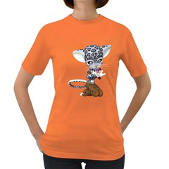 Native Snow Leopard 1 Womens' T Shirt (colored) by gatterwe