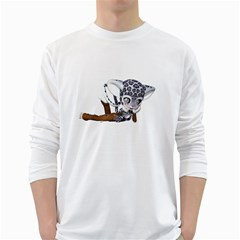 Native Snow Leopard 2 Mens' Long Sleeve T Shirt (white) by gatterwe