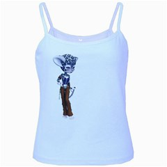 Native Snow Leopard 3 Baby Blue Spaghetti Tank by gatterwe