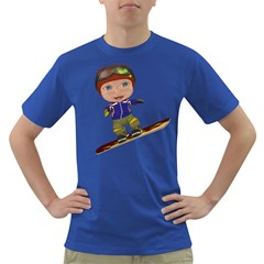 Snowboarder 1 Mens' T Shirt (colored)