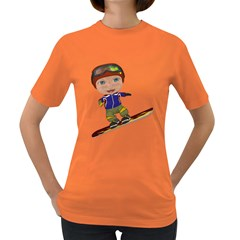 Snowboarder 1 Womens' T Shirt (colored) by gatterwe