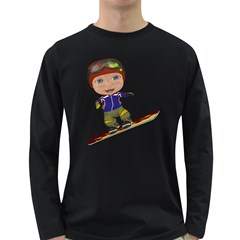 Snowboarder 1 Mens' Long Sleeve T Shirt (dark Colored) by gatterwe