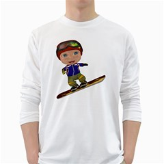 Snowboarder 1 Mens' Long Sleeve T Shirt (white) by gatterwe