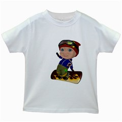 Snowboarder 2 Kids' T Shirt (white) by gatterwe