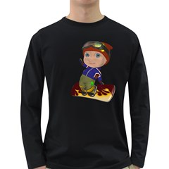Snowboarder 2 Mens' Long Sleeve T Shirt (dark Colored) by gatterwe