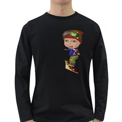 Snowboarder 3 Mens' Long Sleeve T Shirt (dark Colored) by gatterwe