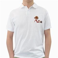 Skater Girl 1 Mens  Polo Shirt (White) by gatterwe