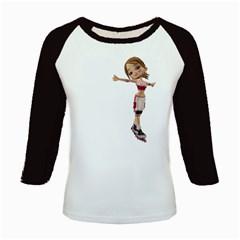 Skater Girl 2 Women s Long Cap Sleeve T Shirt by gatterwe