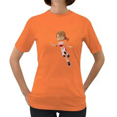 Skater Girl 3 Womens' T Shirt (colored) by gatterwe